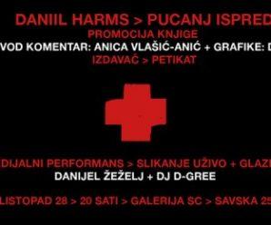 promocija knjige d. harmsa s grafikama d. žeželja/20h/28.10/galerija sc/zg