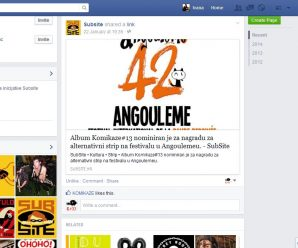 Komikaze got the selection of Angoulême 2015's Alternative Comics award!
