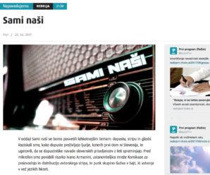 komikaze na 1. programu radija i glavnom slovenskom portalu