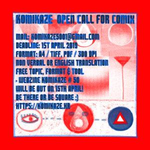 Komikaze open call for the webzine #50