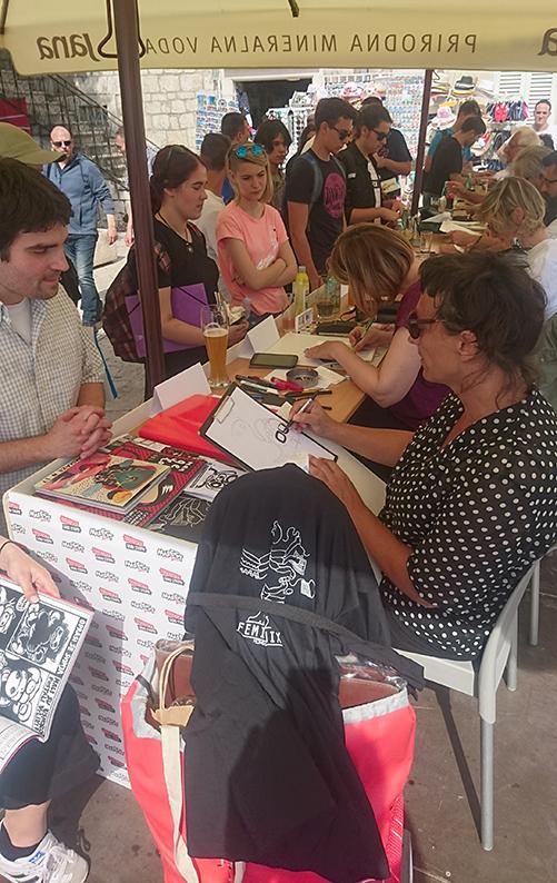 12. Mafest @ Makarska, grad stripa_potpisivanje