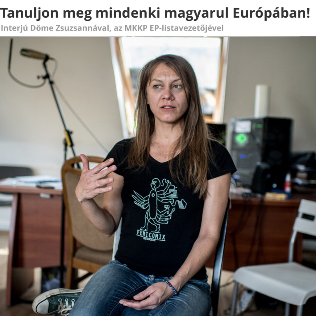 dogradonačelnica u femicomix majici - budimpešta