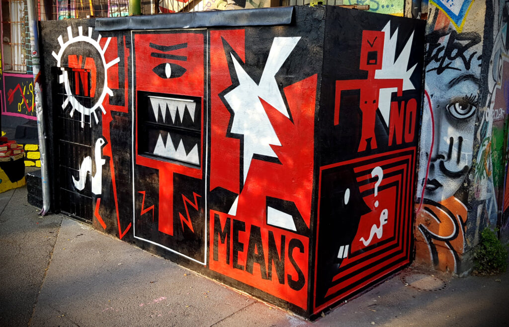femicomix nomeansno mural